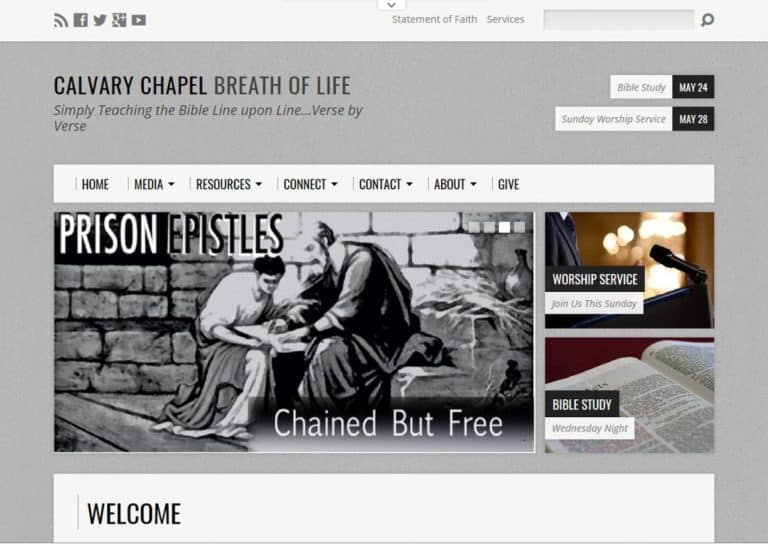 Calvary Chapel Breath of Life Website