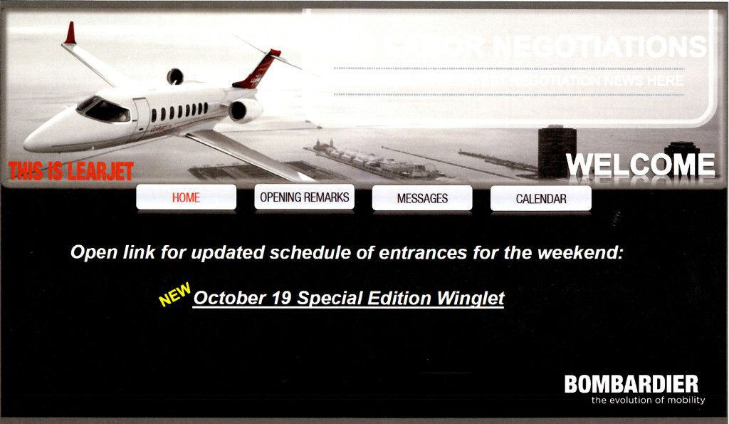 Learjet Labor Negotiations Website