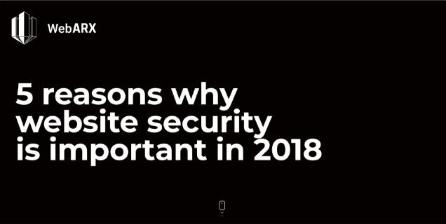 5 Reasons Why Website Security is Important in 2018 Infographic